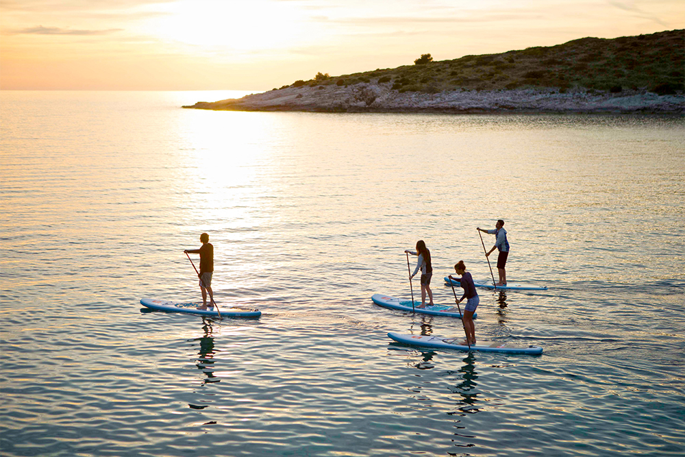 Orion Sailing Yacht Charter - Lefkas Greece - Water Toys - SUP'ing